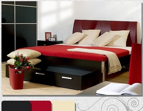 Best 1000 Ideas About Red Black Bedrooms On Pinterest Black With Pictures