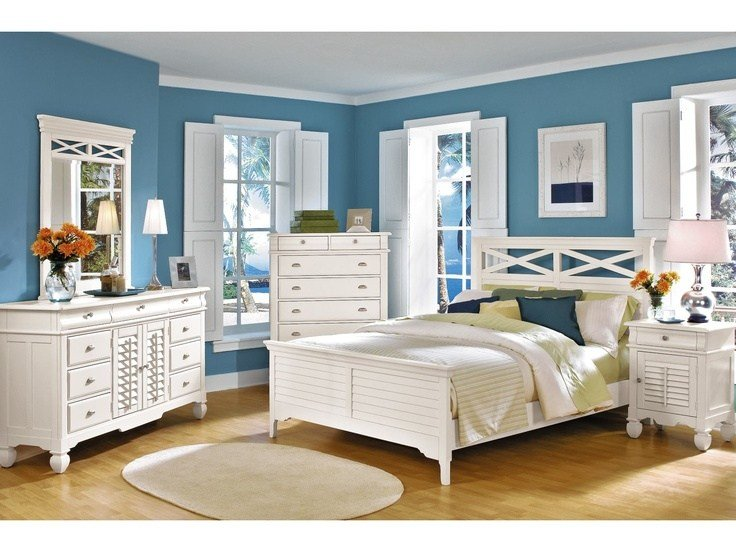 Best Plantation Cove White 5 Pc Panel Bedroom Package Value With Pictures
