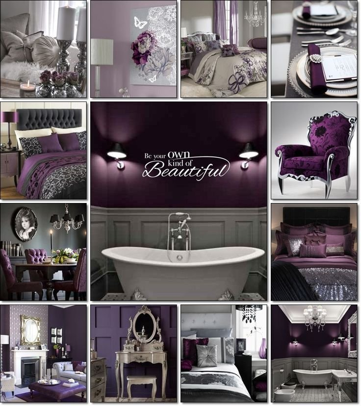 Best 25 Purple Grey Bedrooms Ideas On Pinterest Purple With Pictures
