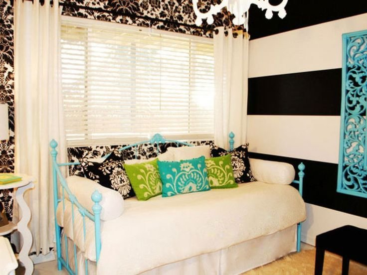 Best Bedroom Killer Black And Blue Teenage Girl Bedroom Decoration Using Light Blue Iron Daybed With Pictures