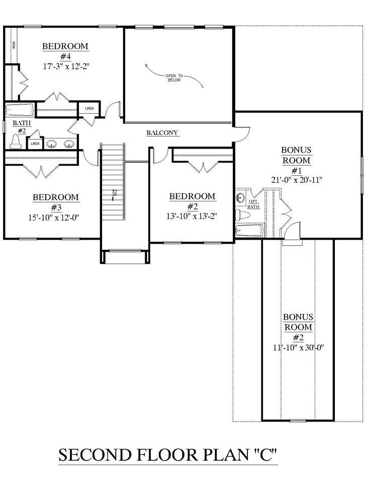 Best House Plan 2995 C Springdale C Second Floor Plan With Pictures