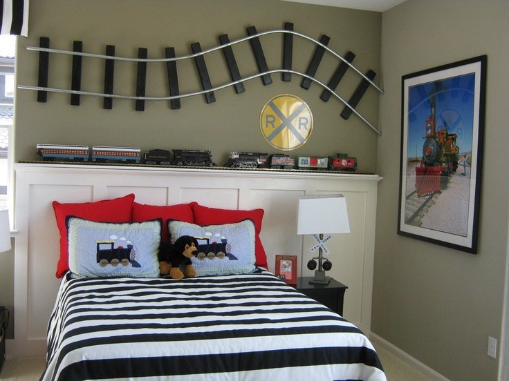 Best 48 Best Images About Boys Train Themed Bedroom On With Pictures