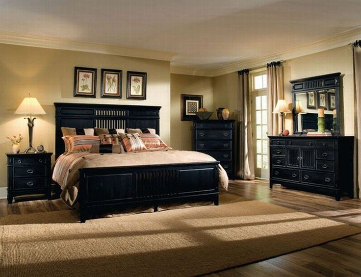 Best Bedroom With Sand Y Tan Walls With Black Furniture With Pictures