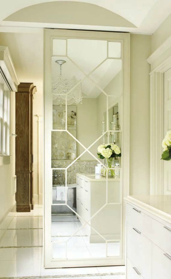 Best Mirrored Fret Door To Closet Bathroom Pinterest With Pictures