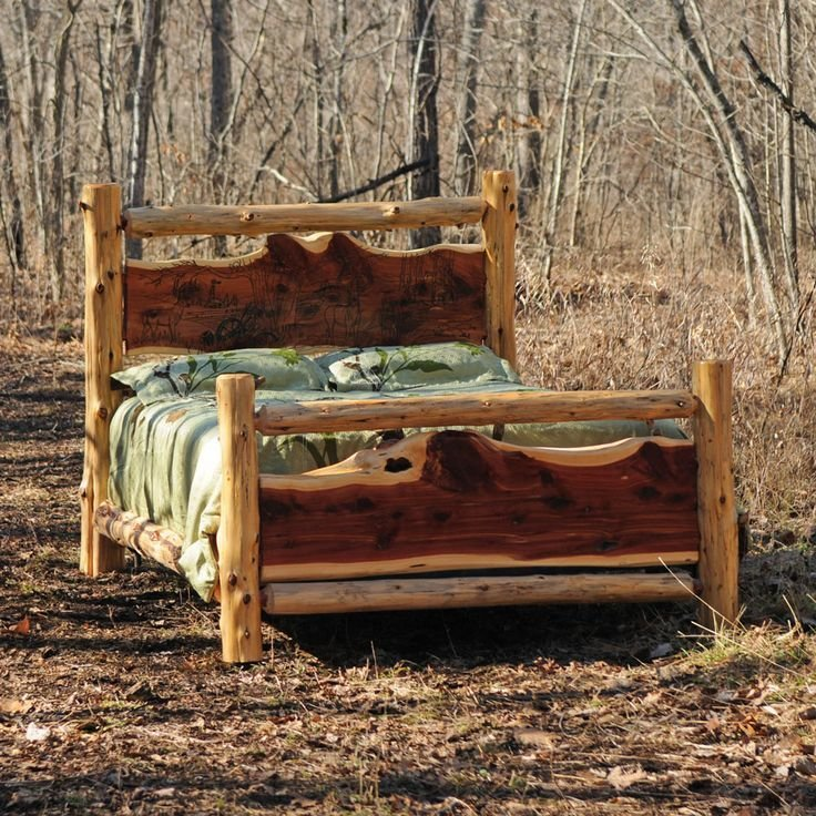 Best Cedar Log Rustic Bed Rustic Bed With Pictures