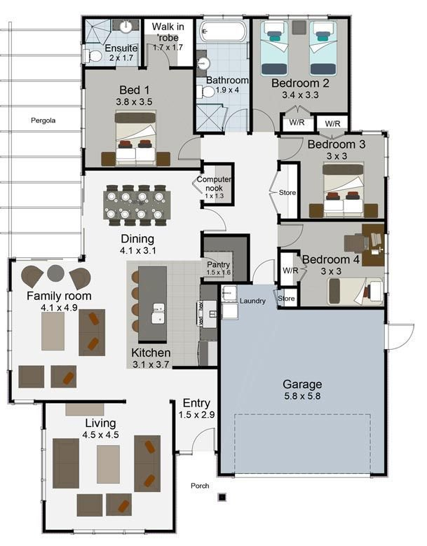 Best Tempo 4 Bedroom House Plan Landmark Homes Builders Nz With Pictures