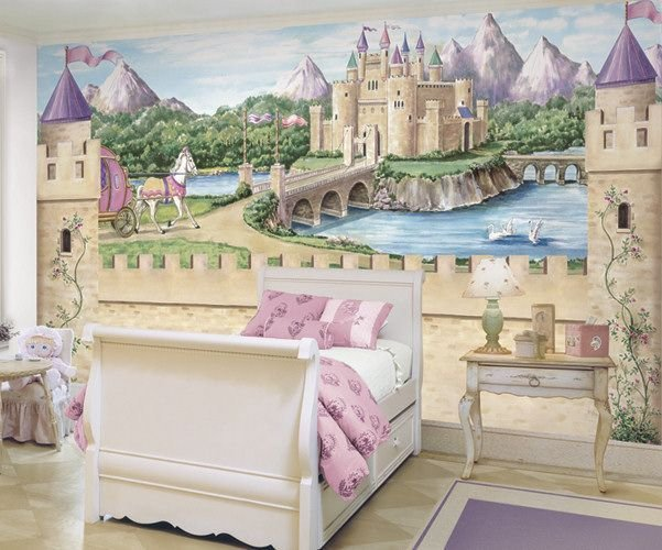 Best Details About Fairy Princess Castle Wallpaper Mural W With Pictures