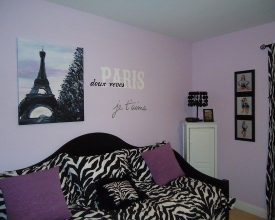 Best Paris Theme Bedroom Make It Blue Instead Of Purple House With Pictures