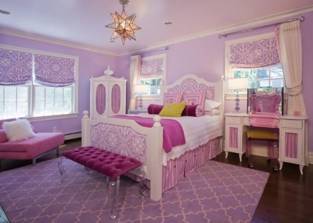 Best Pink White Purple Girls Room Taylor S New Room With Pictures