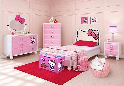 Best Shop For A Hello Kitty Twin Bedroom At Rooms To Go Kids With Pictures