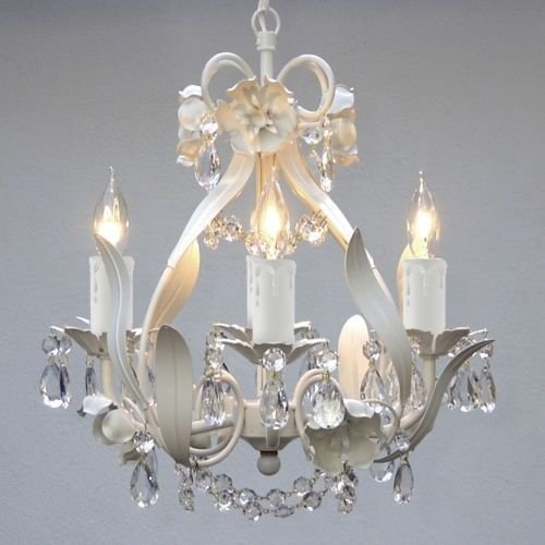 Best Mini Small White Crystal Chandelier Bedroom Baby Nursery With Pictures