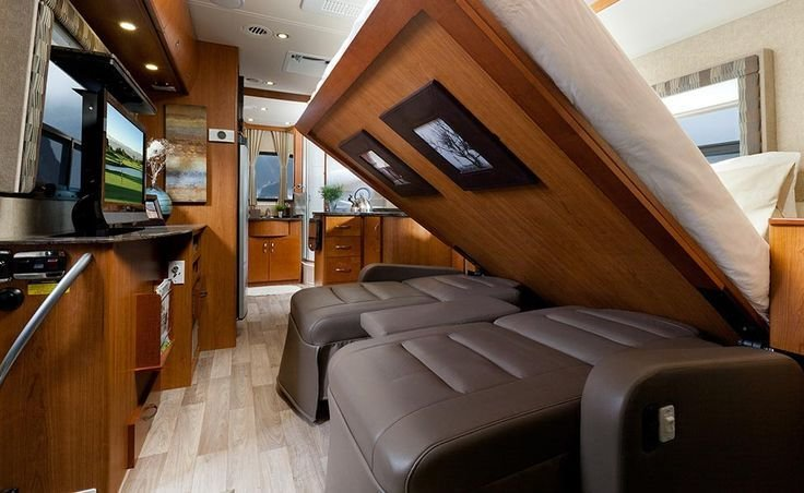 Best Queen Size Murphy Bed Coming Down In A Class A Rv Rving With Pictures