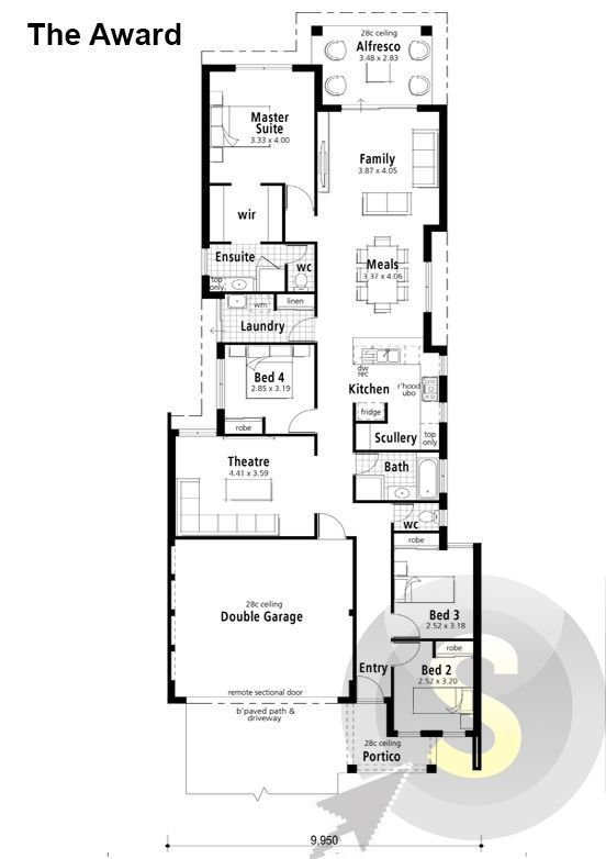 Best The Award Floorplan 10M Frontage 4X2 Alfresco With Pictures
