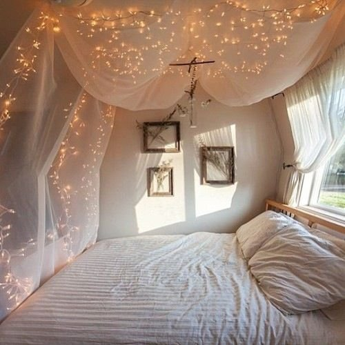 Best Canopy Above Bed With Lights Bedroom Ideas Pinterest With Pictures