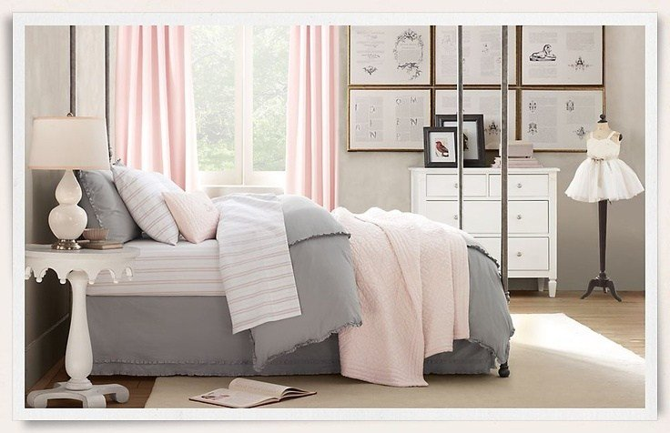 Best Grey And Pink For Girl S Bedroom The Girls Room With Pictures
