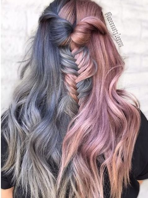 Free Best 25 Two Color Hair Ideas On Pinterest Two Toned Hair Blue Hair Colour And Crazy Colour Wallpaper