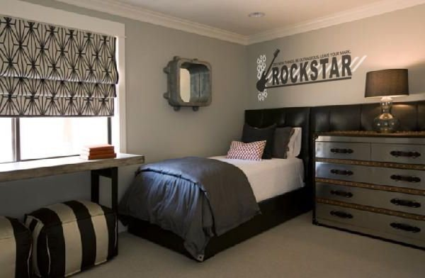 Best Rockstar Vinyl Lettering Wall Decal Guitar Bedroom Decor With Pictures