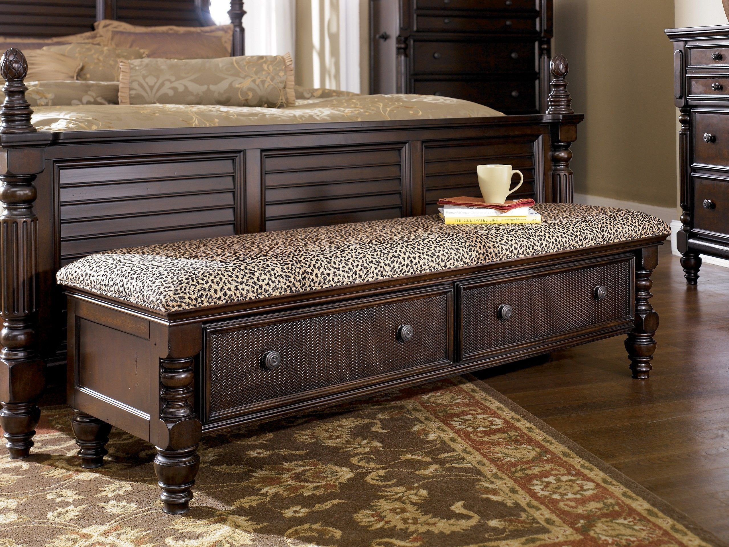 Best Ashley Key Town B668 09 Millennium Dark Brown Bedroom With Pictures