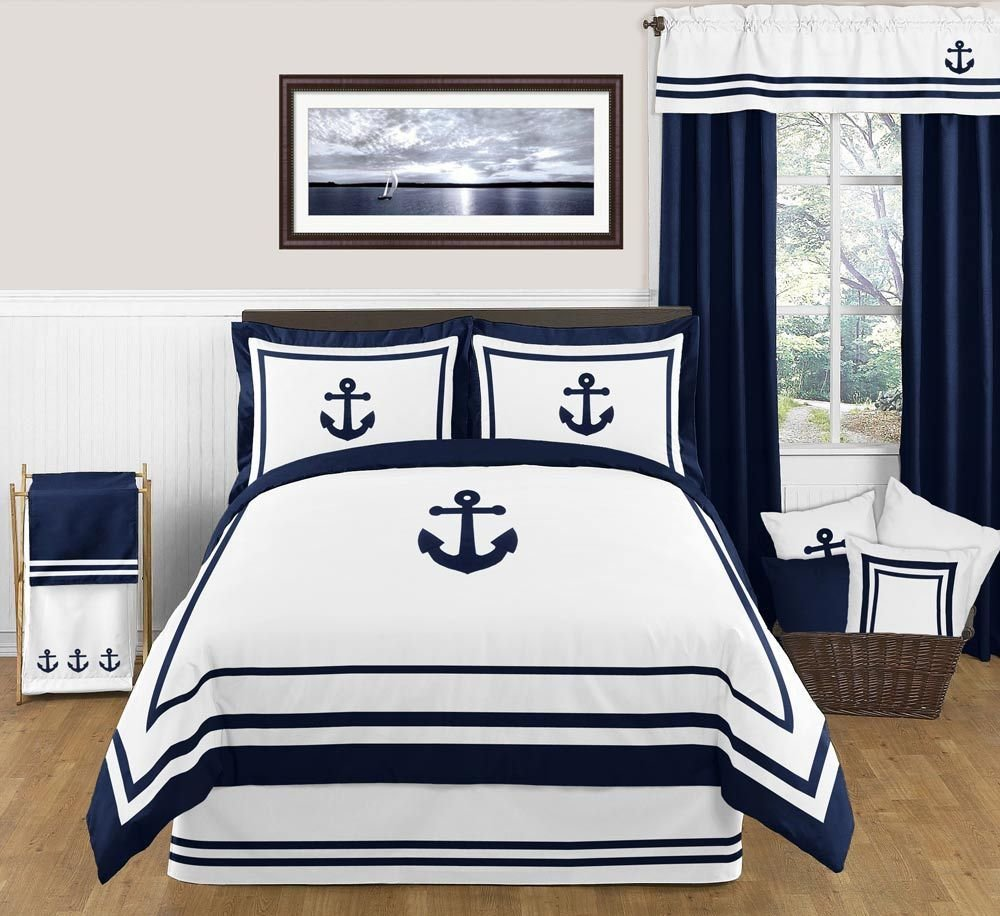 Best Nautical Anchor Full Queen Bedding 3 Pc Comforter Set With Pictures