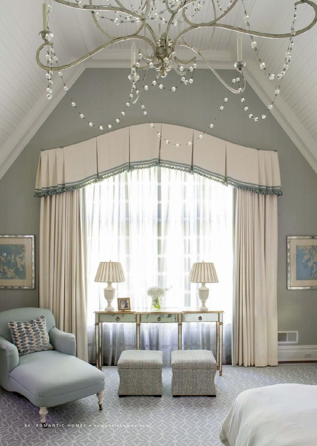 Best Classical Bedroom Curtain Curved Window Treatments With Pictures