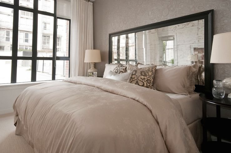 Best Mirrored Headboards Transitional Bedroom The Cross Decor Design Home Pinterest With Pictures
