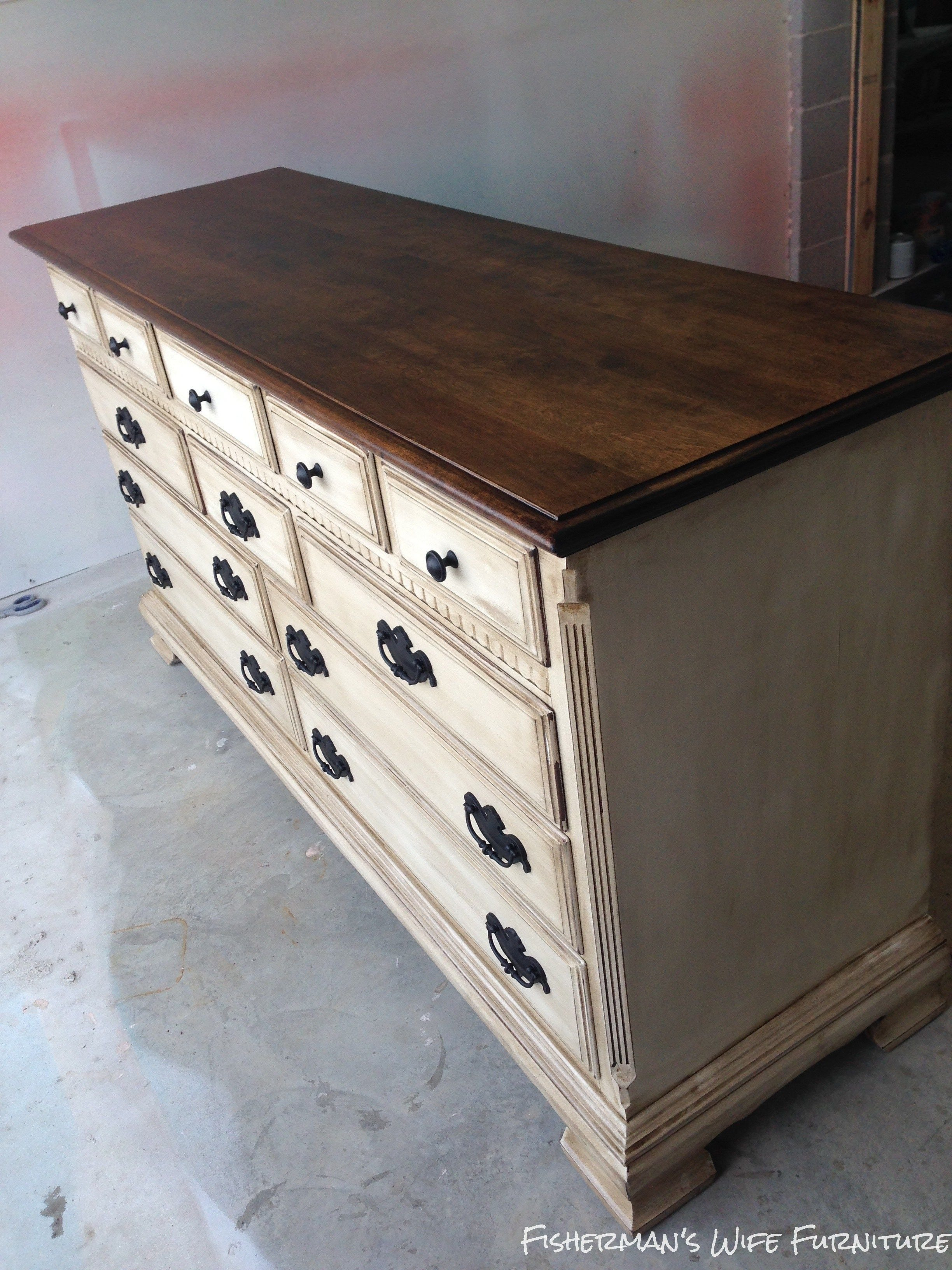 Best Brian Kaylor Painted Distressed And Glazed Dresser With Pictures