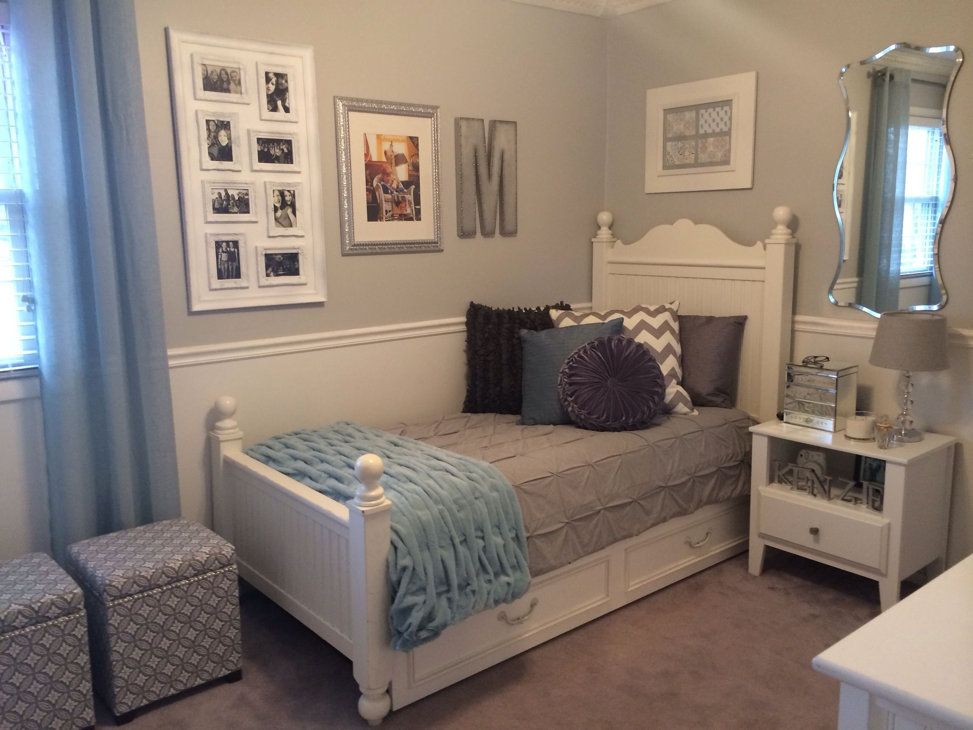 Best T**N Girl S Room Walls Are Sherwin Williams Passive With Pictures
