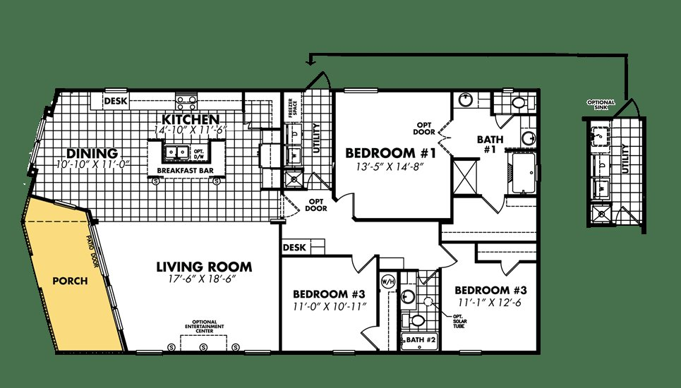 Best 3 Bedroom Double Wide Floor Plans Woodwork Samples With Pictures