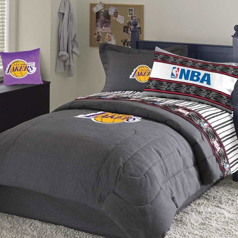 Best Lakers Bed Set Under In Stock Ready To Ship Gifts » Nba Items In Stock Ready To Kid's With Pictures