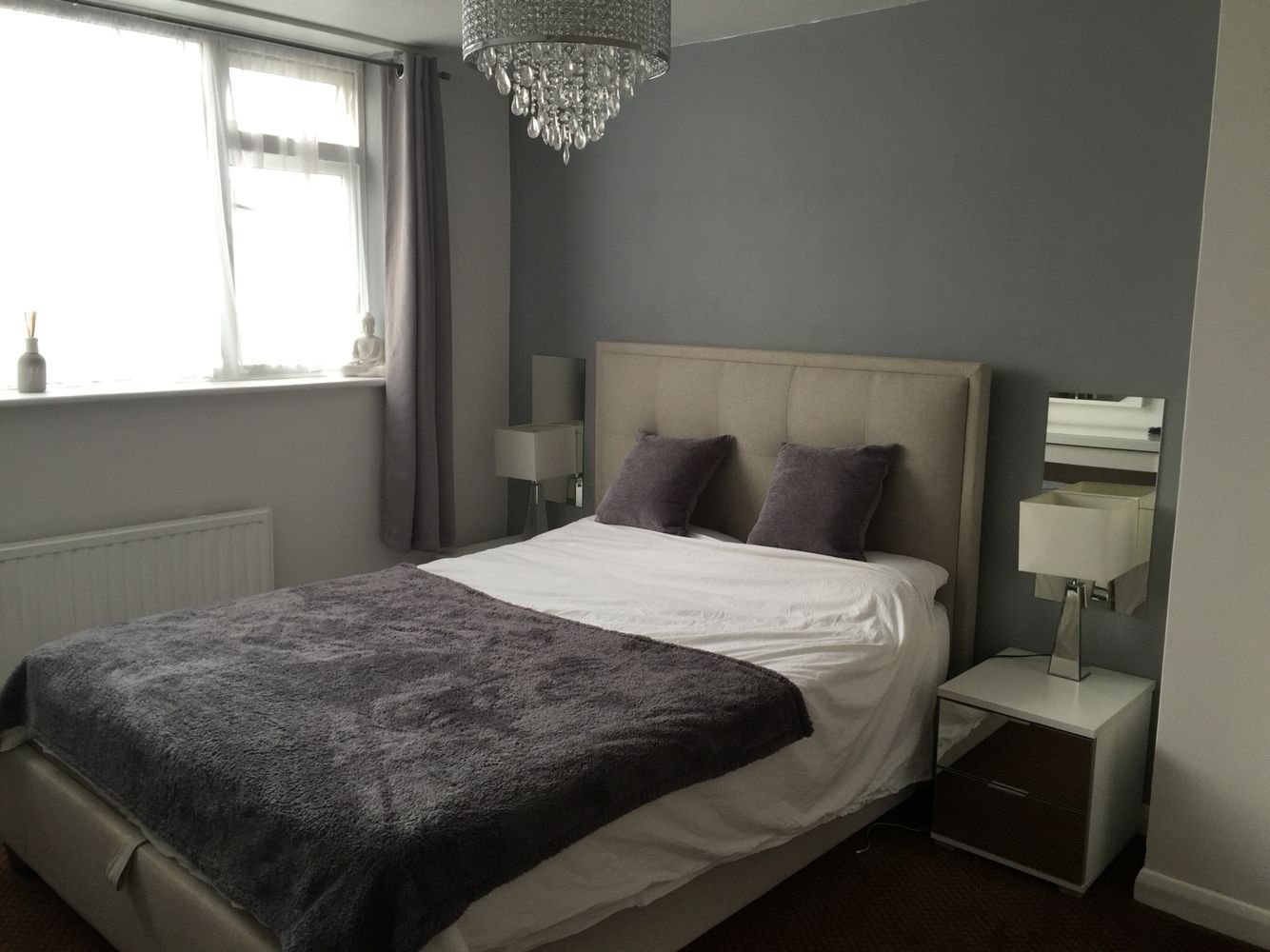 Best My Bedroom In Dulux Warm Pewter And White Mist Greys And With Pictures