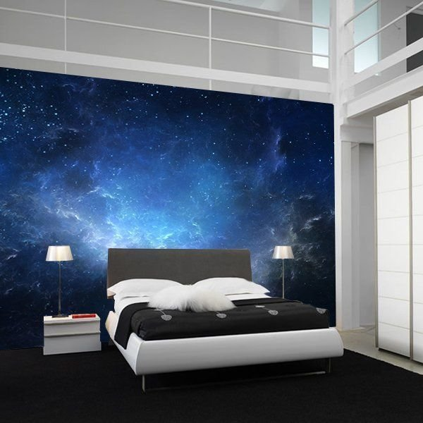 Best Fancy Night Sky Nebula Wall Mural Bedroom Ceiling With Pictures