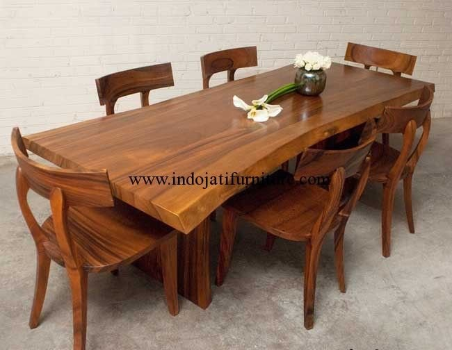Best Set Meja Makan Kayu Trembesi Solid Harga Meja Kayu With Pictures