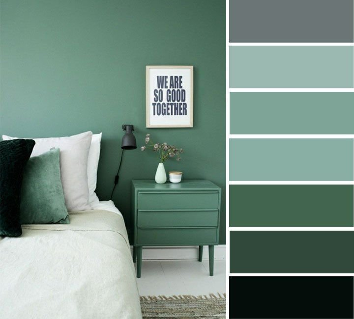Best Grey And Green Bedroom Color Ideas Home Color Ideas With Pictures