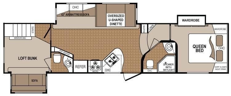 Best 2 Bedroom 5Th Wheel Floor Plans Google Search Rv With Pictures