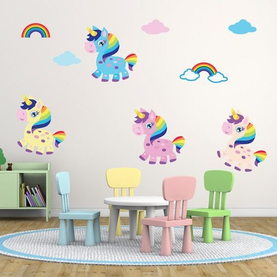 Best Friendly Rainbow Unicorn Wall Stickers Unicorn Wall With Pictures