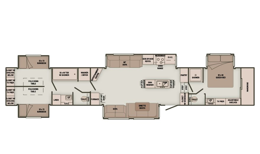 Best Bedroom Fifth Wheel Floor Plans Quotes Rv Master Room With Pictures