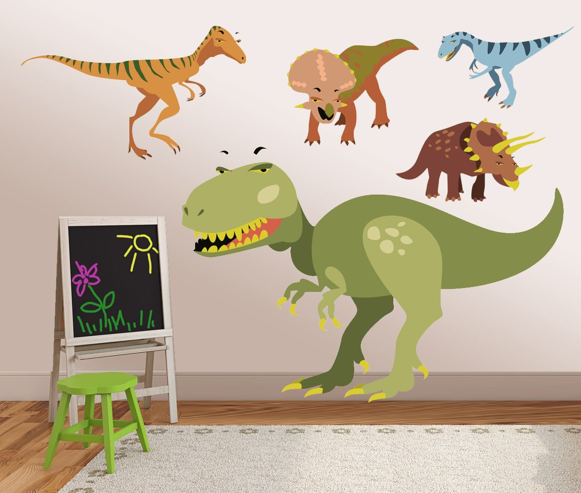 Best Vinyl Dinosaur Wall Decals Kids Wall Stickers Dino With Pictures