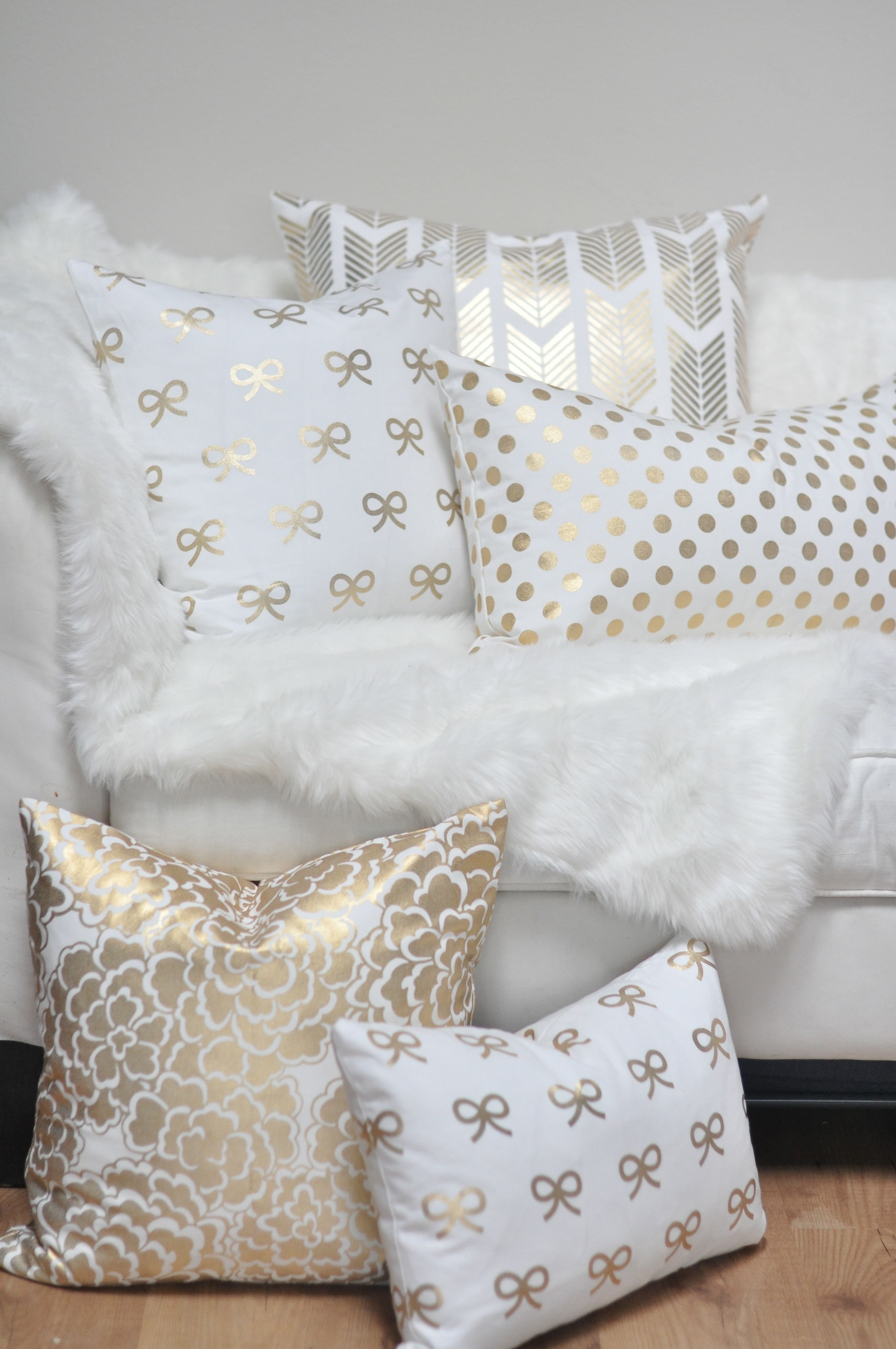 Best Gold Fleur Pillow Gold Pillows Studio And Floral With Pictures
