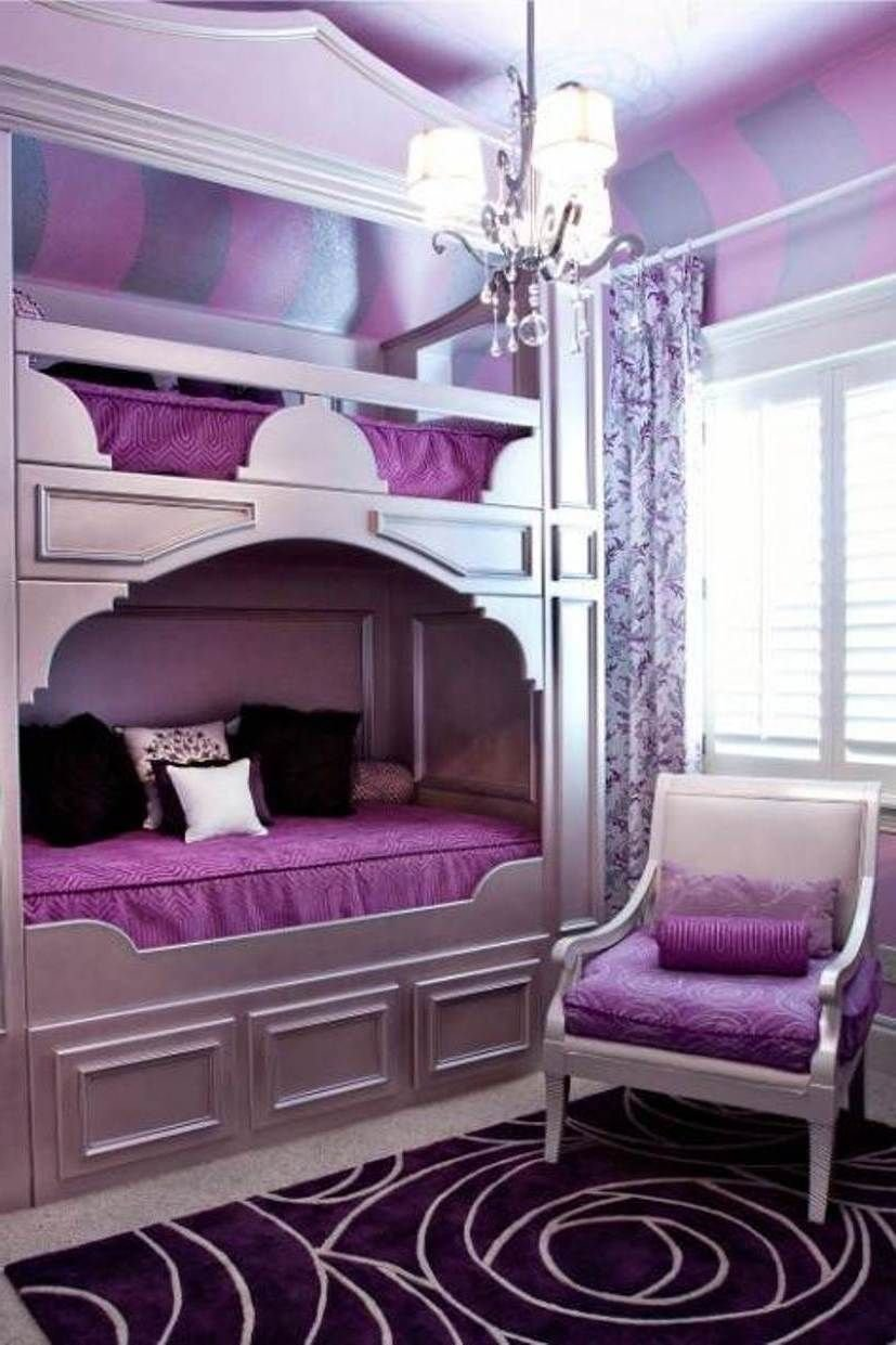 Best Girls Purple Bedroom Decorating Ideas Socialcafe With Pictures