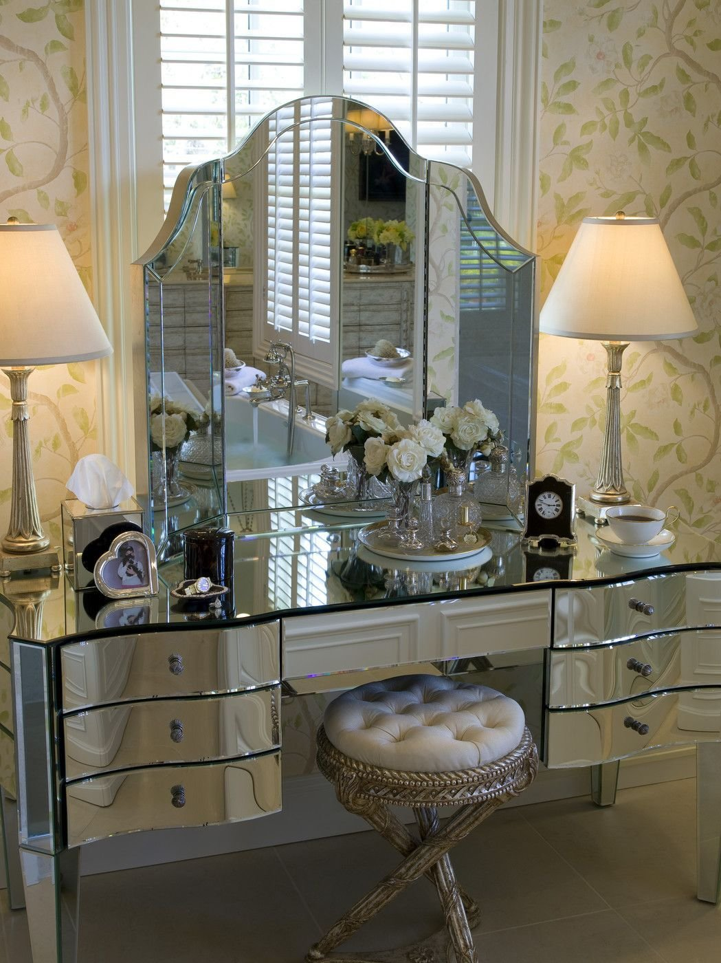 Best Mirrored Furniture Photos Mirror Furniture Vanities And With Pictures