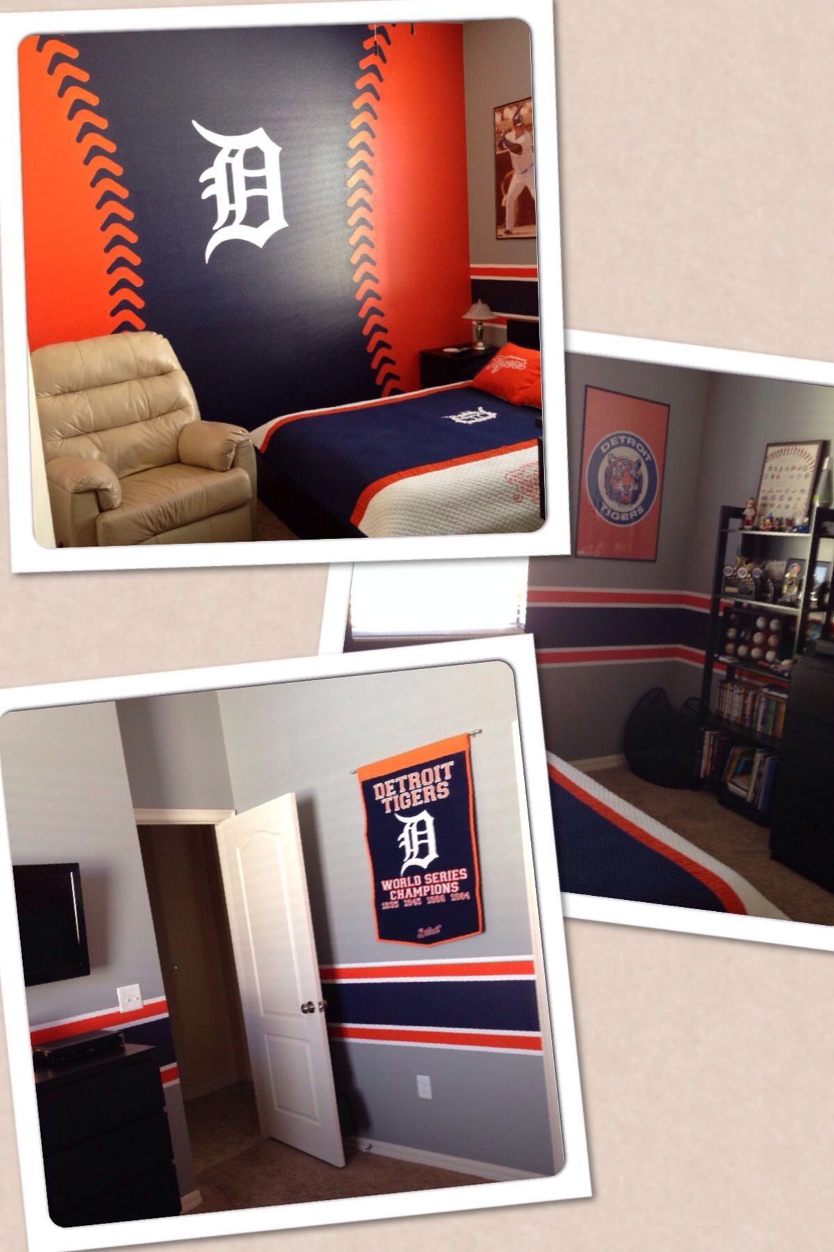 Best Detroit Tigers Bedroom For The All Time Fan Stuff I Have Made Pinterest Detroit Tigers With Pictures