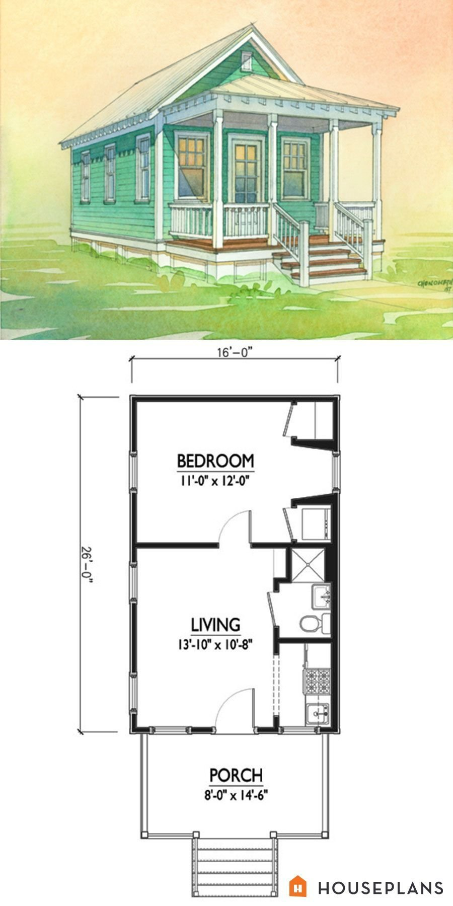 Best Charming Tiny Cottage Plan By Marianne Cusato 400Sft 1 With Pictures