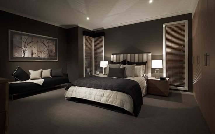 Best Black Dark Feature Wall Bedroom S*Xy Elegant Sleek Home With Pictures