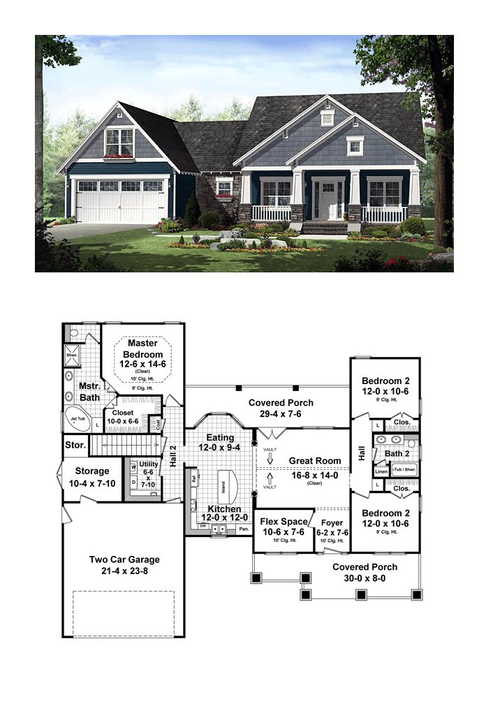 Best Cottage Country Craftsman House Plan 55603 House Plans With Pictures
