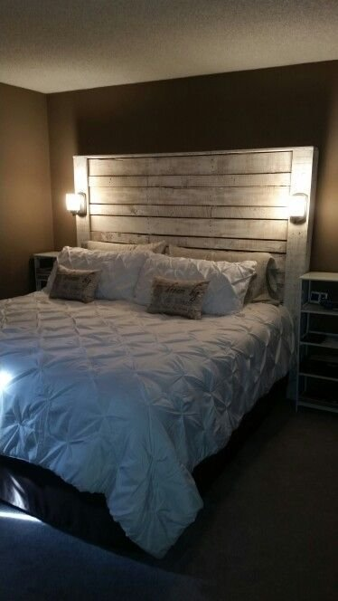 Best Pallet Headboard Apartment Home Ideas Pinterest Pallets Bedrooms And Master Bedroom With Pictures