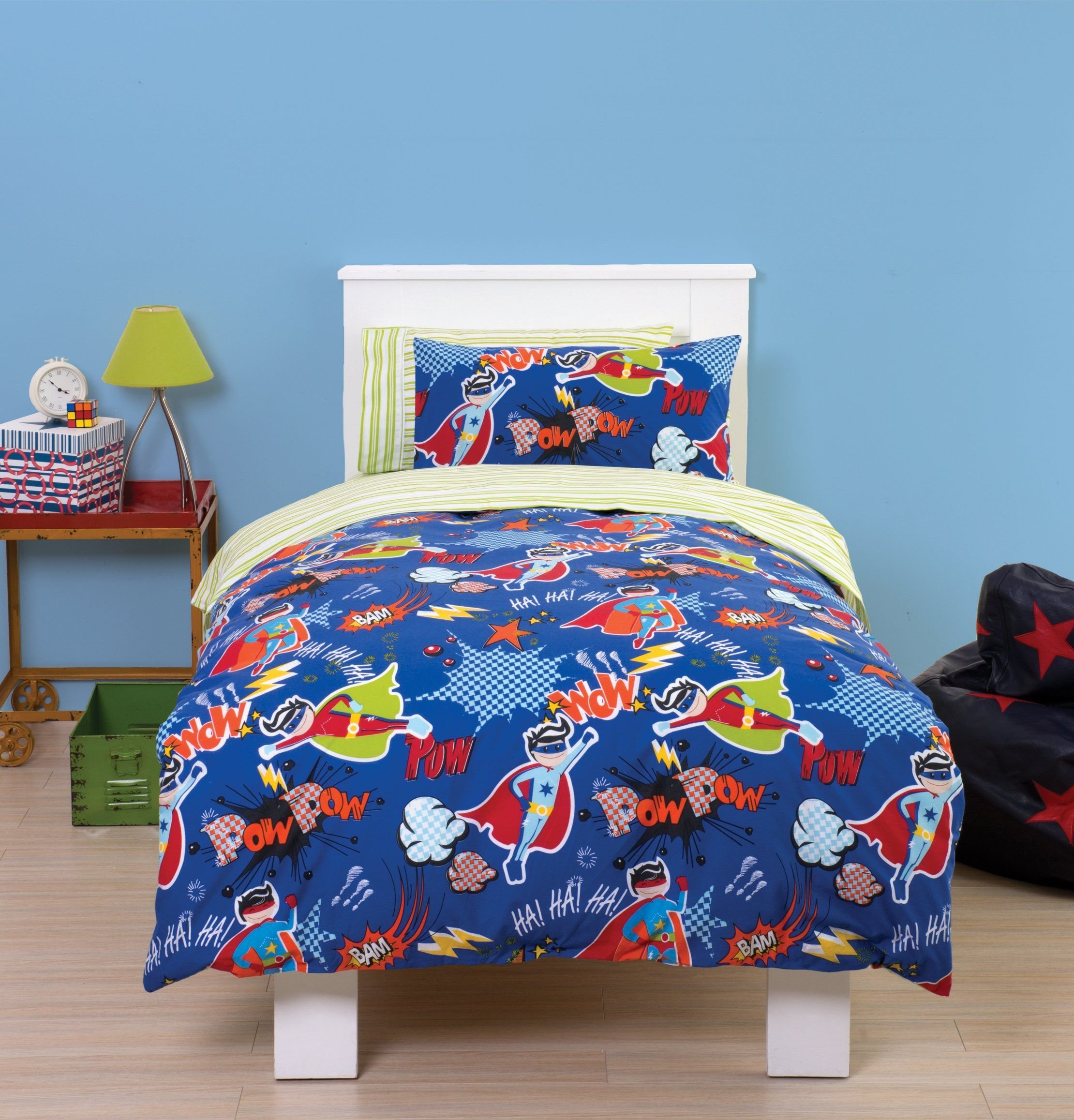 Best Super Hero Toddler Cot Bed Duvet Bedding Set Pow Wam With Pictures