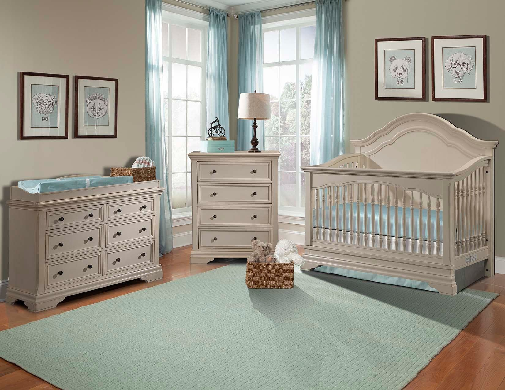 Best Stella Baby And Child Athena 3 Piece Nursery Set In Belgium Cream Also Comes In French White At With Pictures