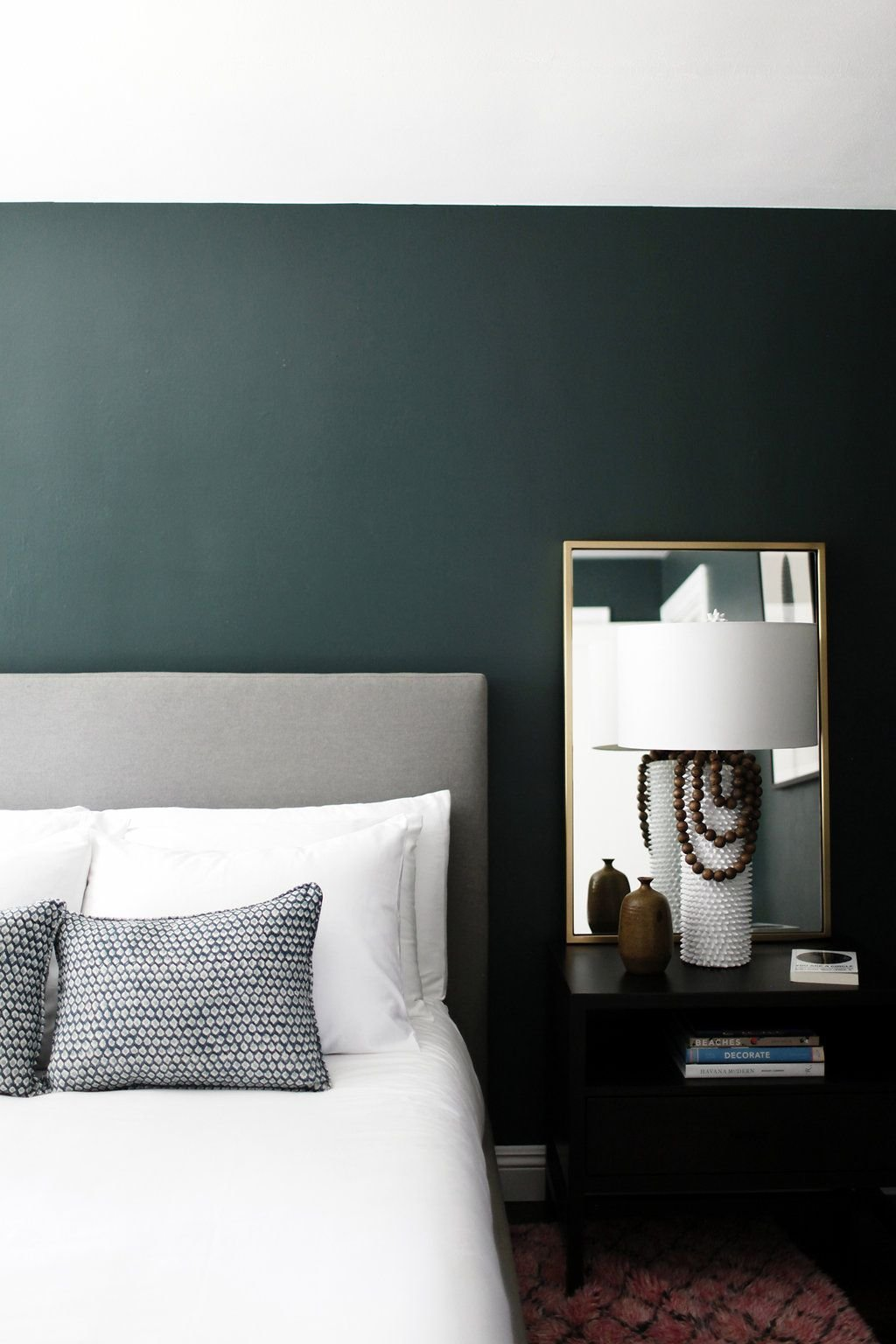 Best Minimalist Bedroom With Dark Green Walls Gorgeous With Pictures