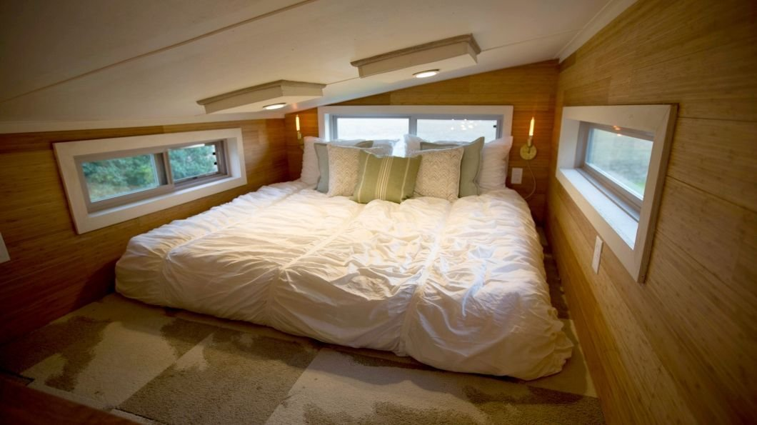 Best Tiny House Bedroom Loft 220 Sq Ft For Boho Couple Tiny House Pinterest Tiny House Bedroom With Pictures