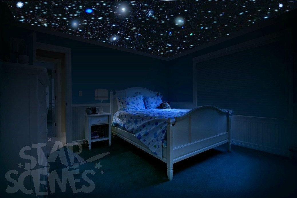 Best Glow In The Dark Star Stickers Diy Star Ceiling For With Pictures